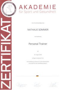 SportingMoms Nathalie Sommer Zertifikat