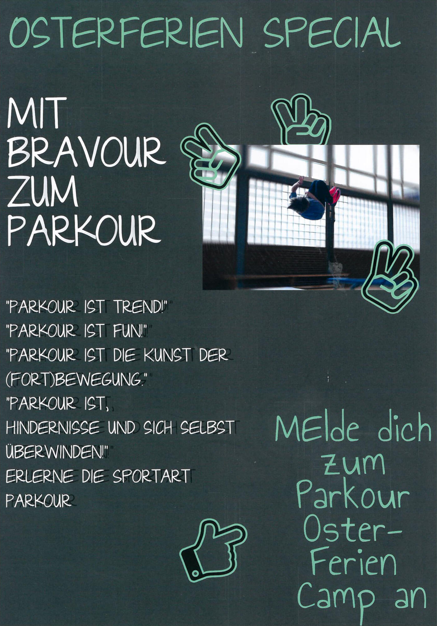 Sport Osterferien Kids Parkour